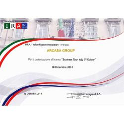 Business Tour Italy 9 Edition I.R.A. 17-21.12.2014